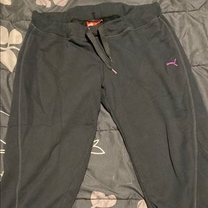 Black Puma Capri sweats size XL